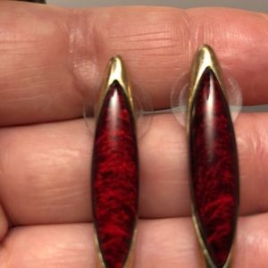 Beautiful Red Stone earrings